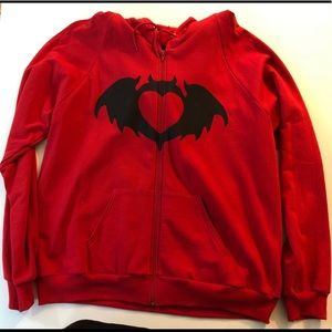 Clandestine Industries Bat Heart hoodie